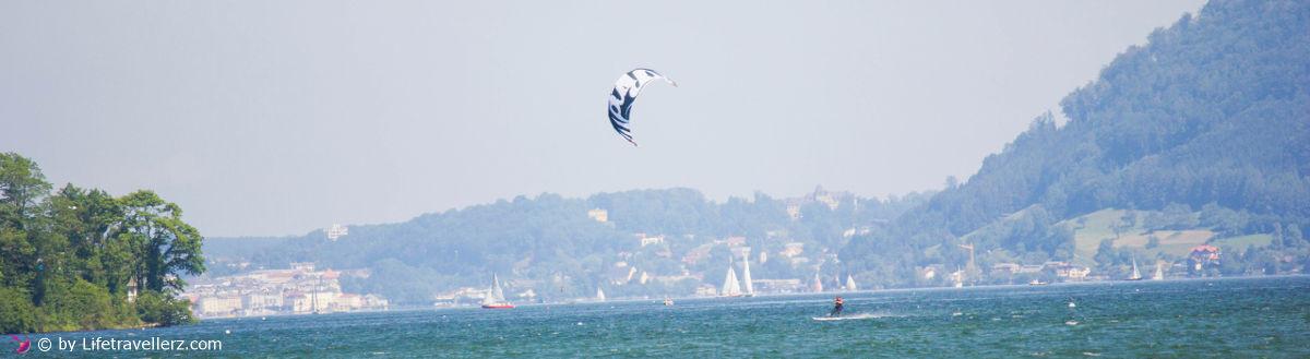 Kitesurfen Traunsee