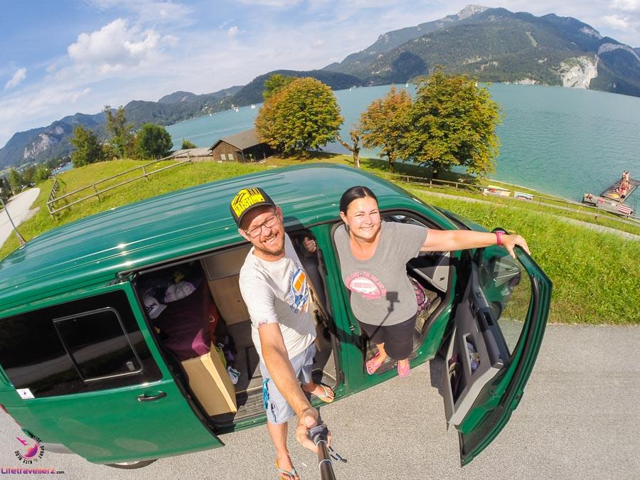 Die Lifetravellerz mit ihrem VW Bus Luigi