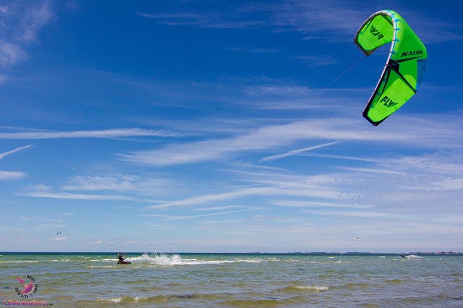 Kitesurfen auf Fehmarn-Hünengrab