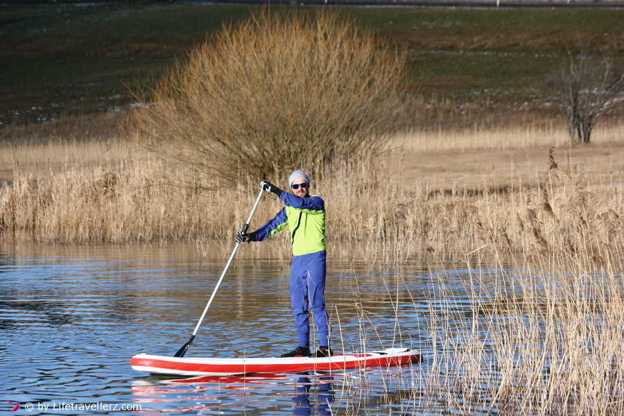 Trockenanzug Dador, Stand up Paddling Irrsee, Dezember