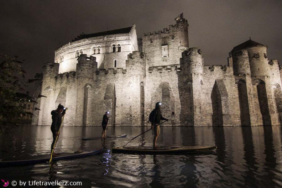 Stand Up Paddling Gent, Gravensteen