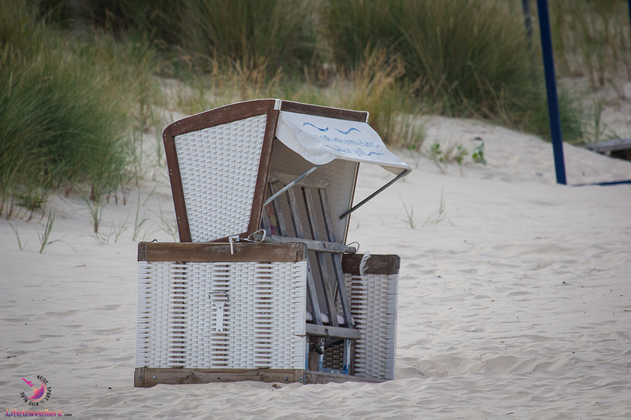 Strandkorb auf Usedom