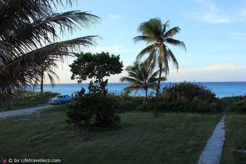 Blick auf den Strand von Varadero-Kuba