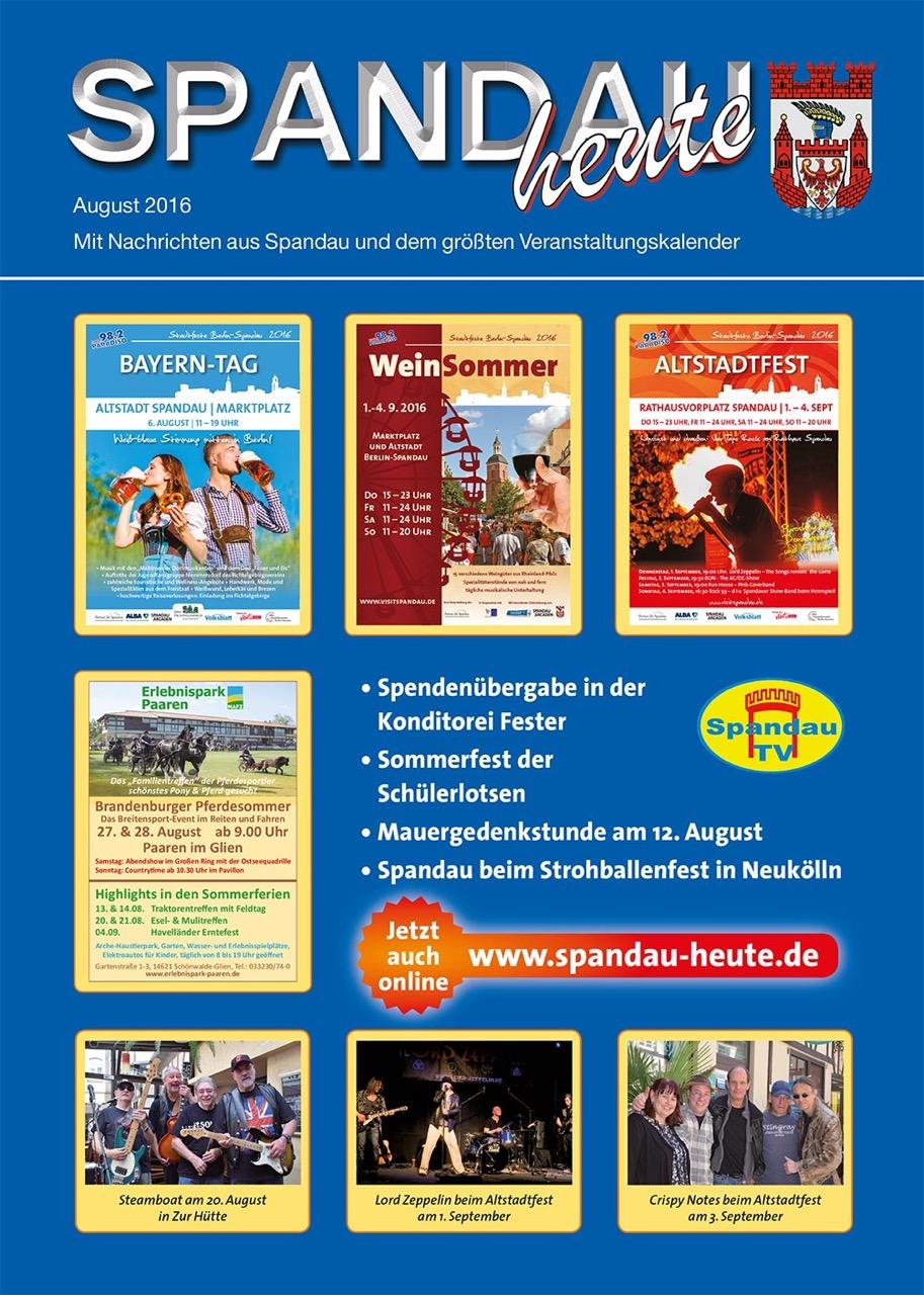 Spandau heute - Ausgabe August 2016