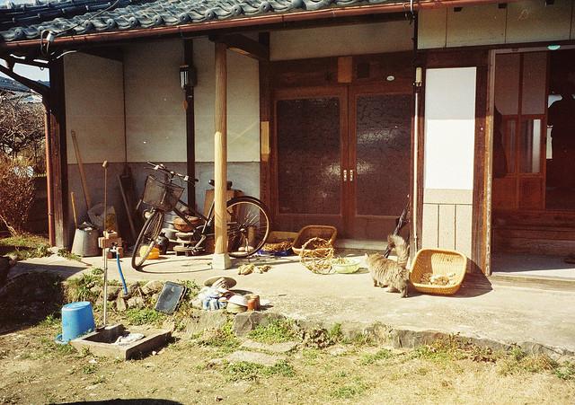 土間もある、とても素敵な古民家でした。
