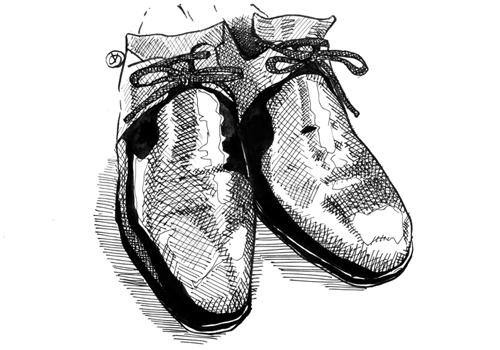 Glazeblanc/10年モノの革靴