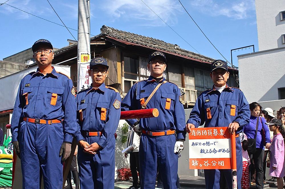 越谷市消防団越ヶ谷分団チームの対戦です!