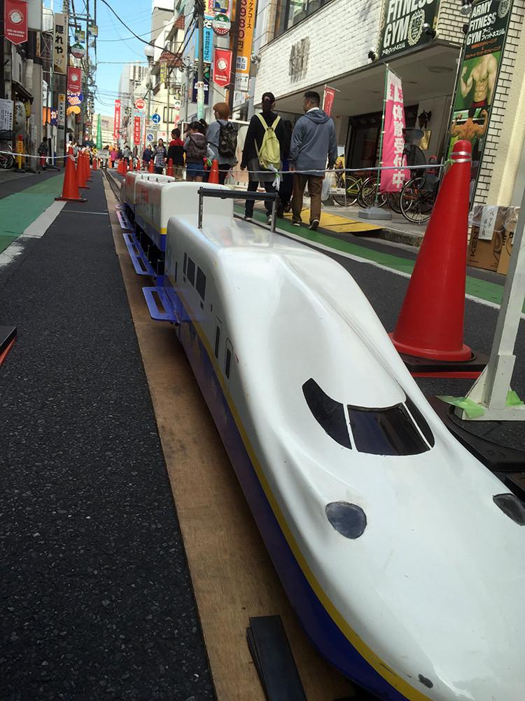 越谷総技高のミニ新幹線コーナー!