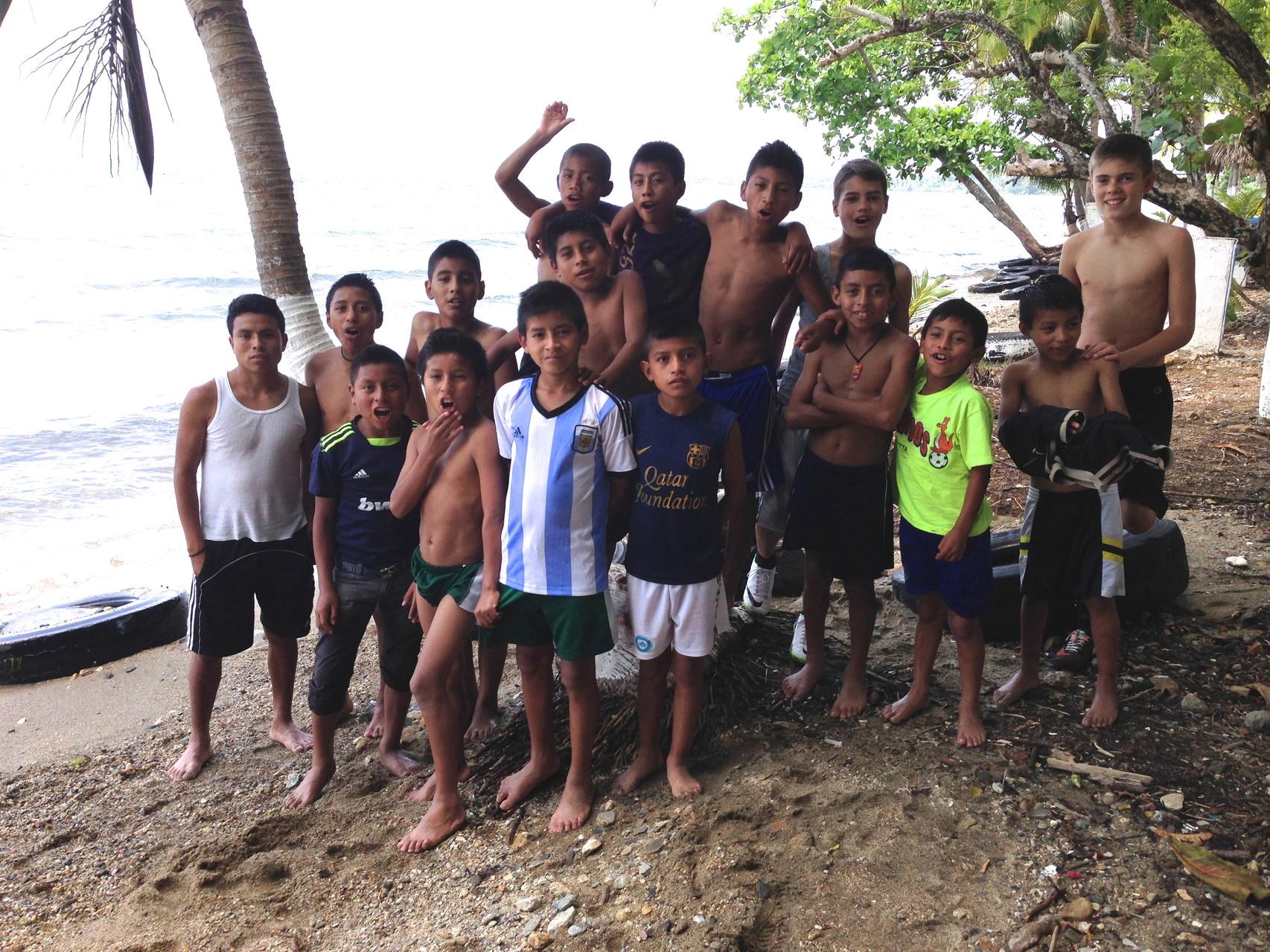 quick stop on the honduran coastline