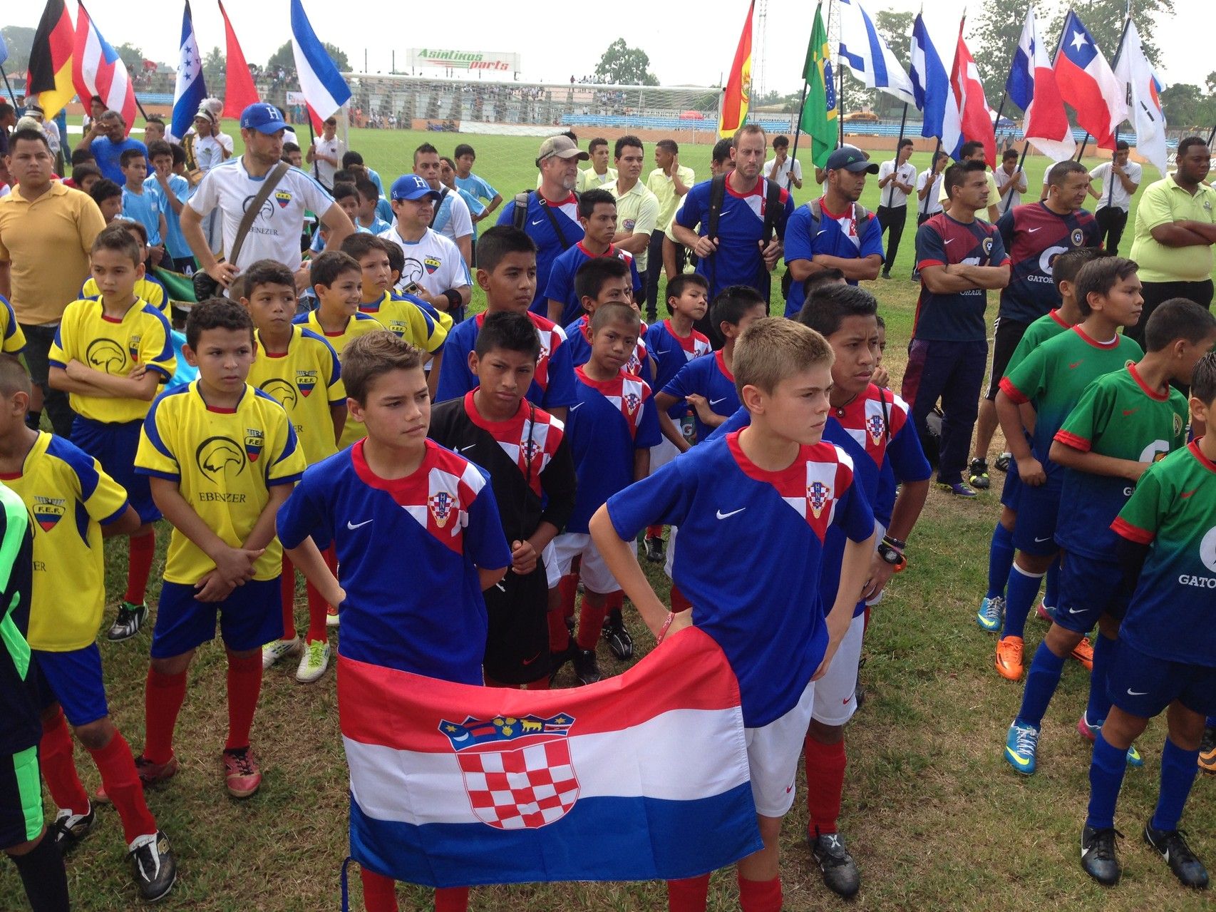 opening ceremonies at the mundialito