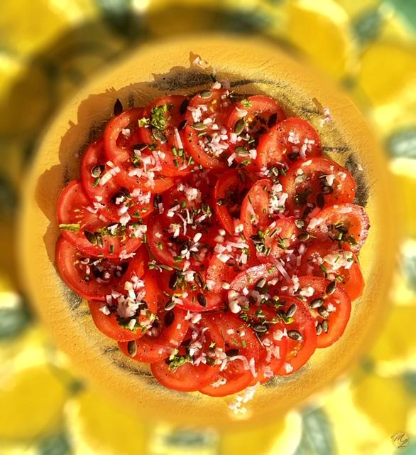 Salade de tomates à l'echalotte #veggie