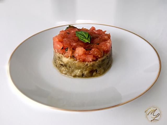 Caviar d'aubergine, tomates au basilic #sansféculent