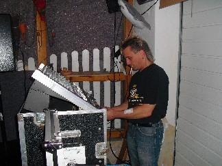DJ Totte beim Soundcheck