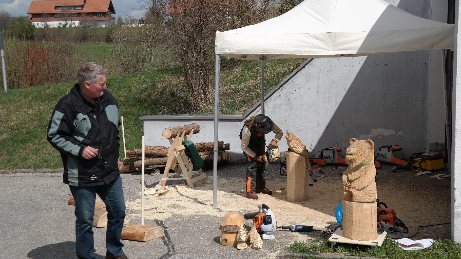 STIHL Testtage - Schnitzen mit der Kettensäge - Allgäu-Carving by Martina Gast