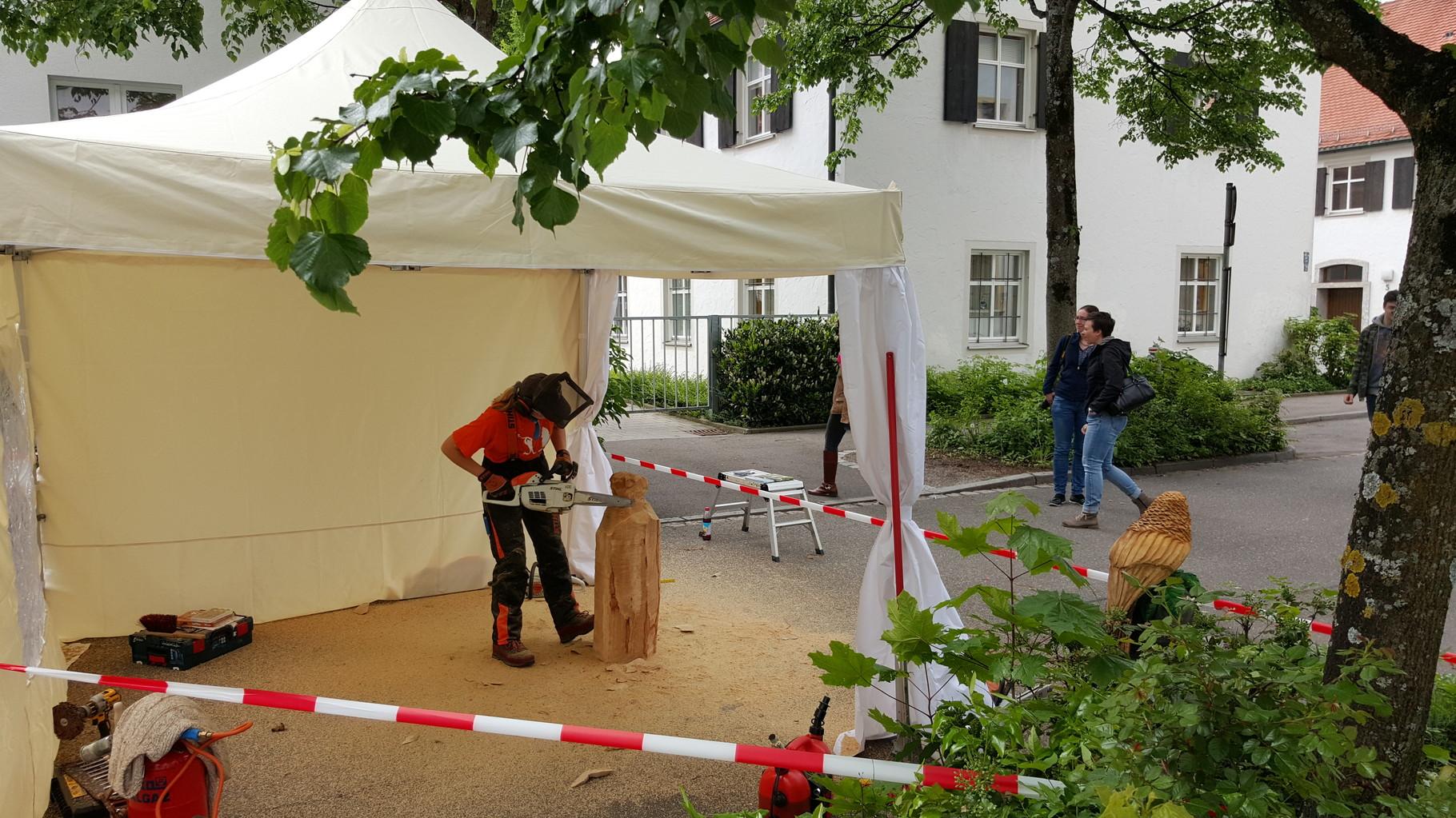 Museumstag Kempten - Schnitzen mit der Kettensäge - Allgäu-Carving by Martina Gast