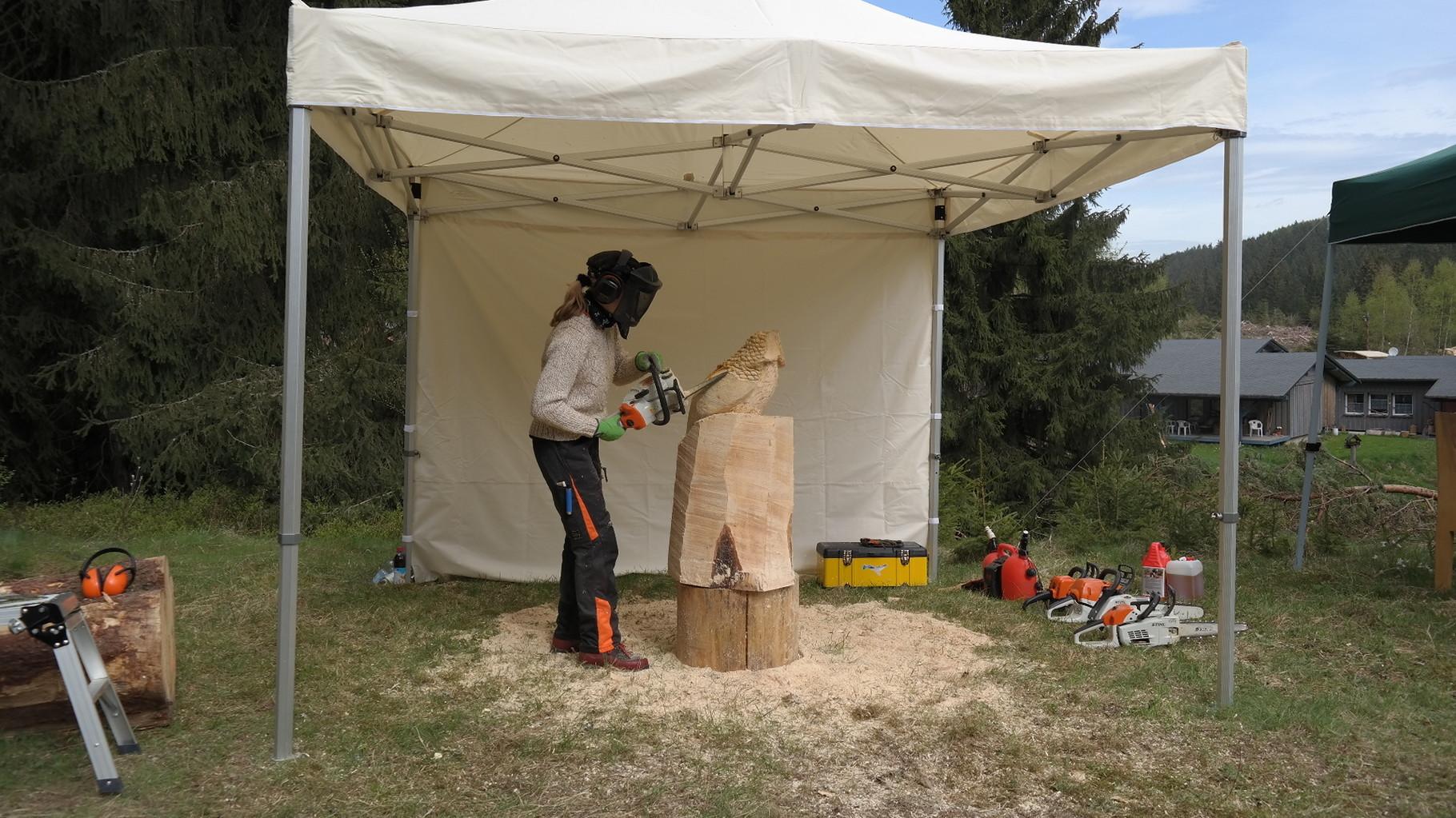 Carving-Event in Grünbach - Schnitzen mit der Kettensäge - Allgäu-Carving by Martina Gast