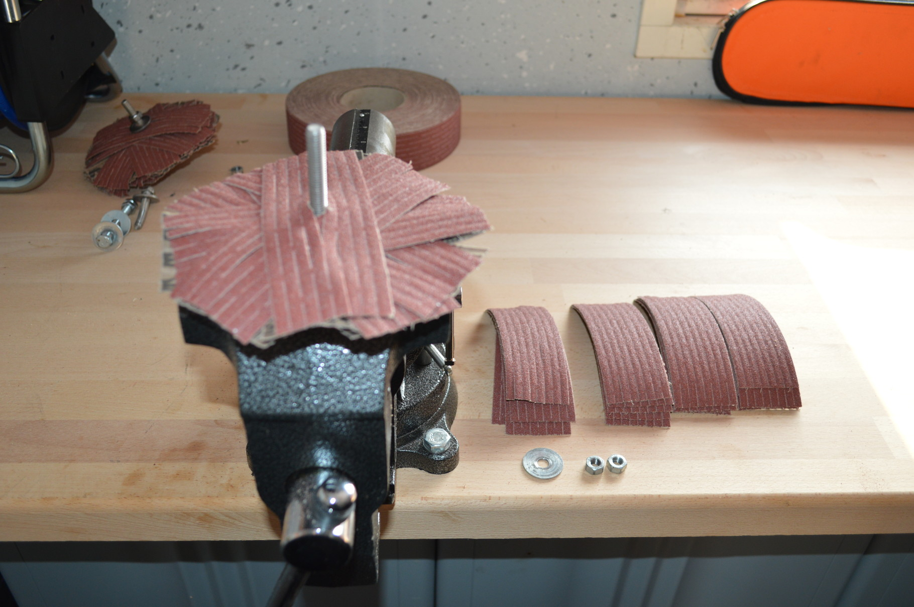 Bauanleitung für einen Schleifstern, Schleifmop