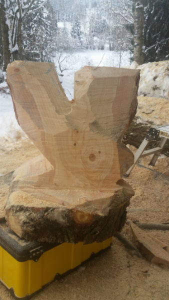 Chainsaw-Carving - Hahn