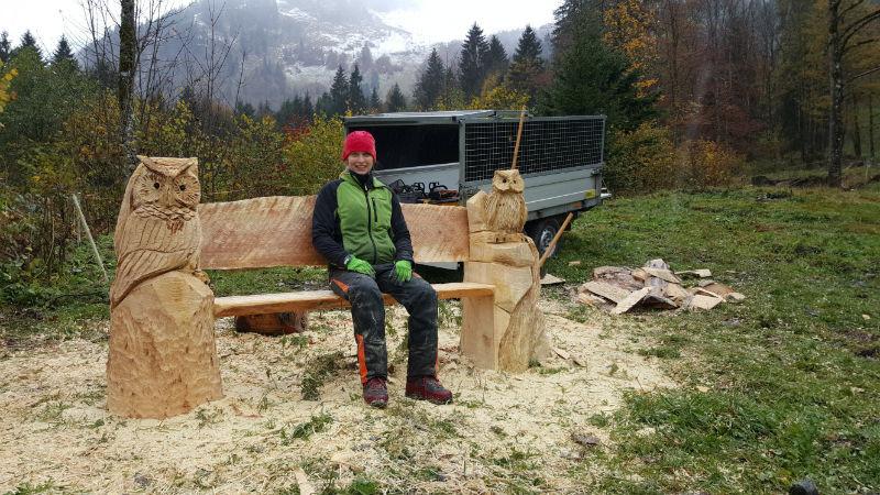 Holzertreffen Oberstdorf - Schnitzen mit der Kettensäge - Allgäu-Carving by Martina Gast