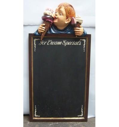 Pizarra para una decoración temática de heladerías