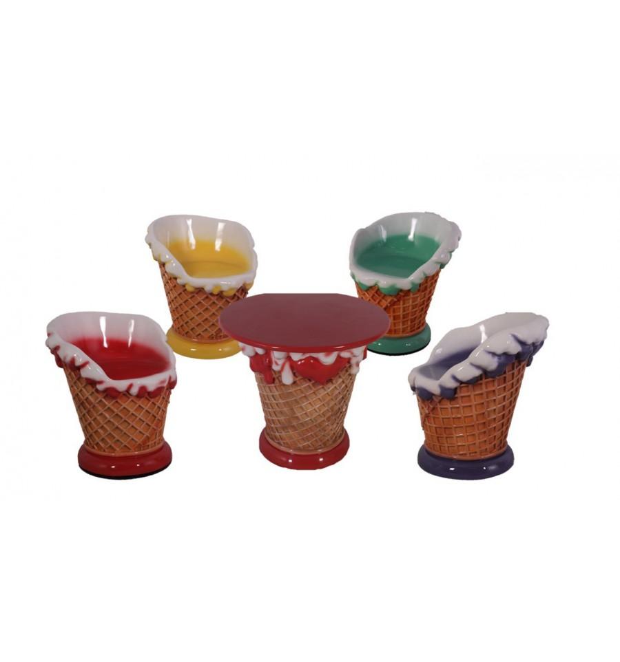 Mobiliario temático para la decoración temática de heladerías