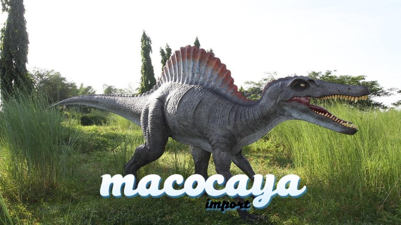 Réplica de Spinosaurus para una decoración temática bestial