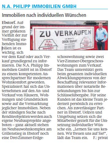 Allgemeine Zeitung (20.10.2018): Ebstorf aktuell. Unternehmen stellen sich vor.