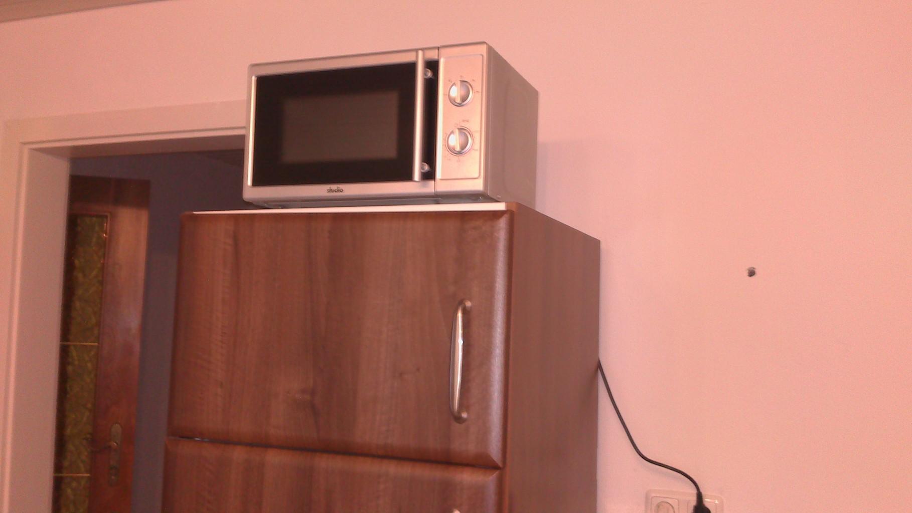 Mikrowelle in der Gemeinschaftsküche - ebenfalls vorhanden