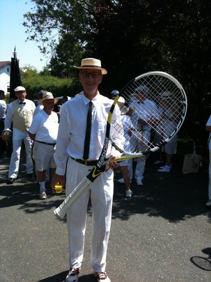 Thomas mit neuem Racket