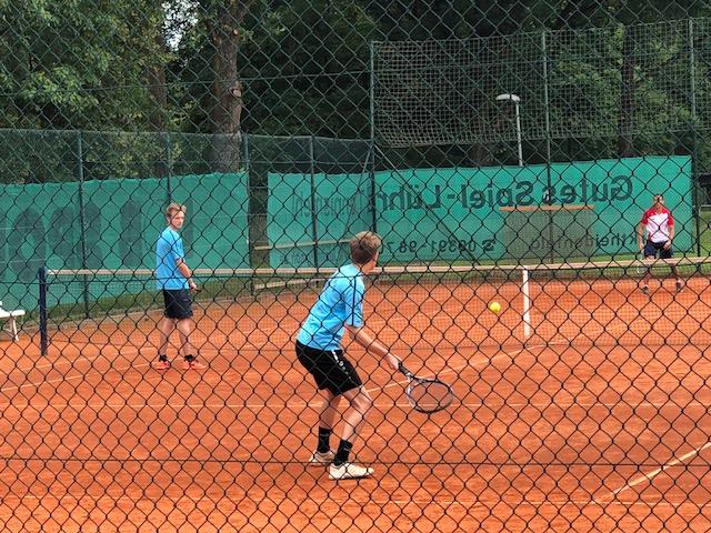 Malte und Luis im 3er Doppel