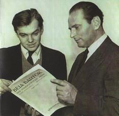 ペーテル(左)と指揮者ワルター・ジュスキント