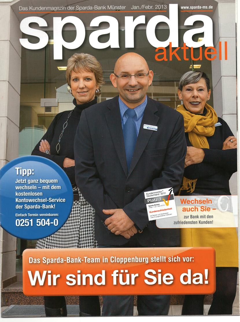 Foto: Lydia Baitinger, Ausgabe Titel: Kundenmagazin Sparda Bank Münster