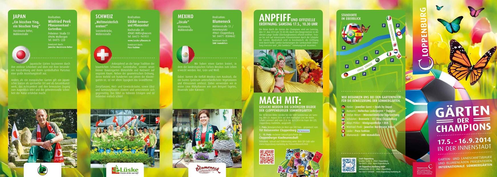 Fotos von den Gärtner: Lydia Baitinger, Design: Stiebi Design, Veranstalter: CM Cloppenburg Marketing GmbH & Stadt Cloppenburg