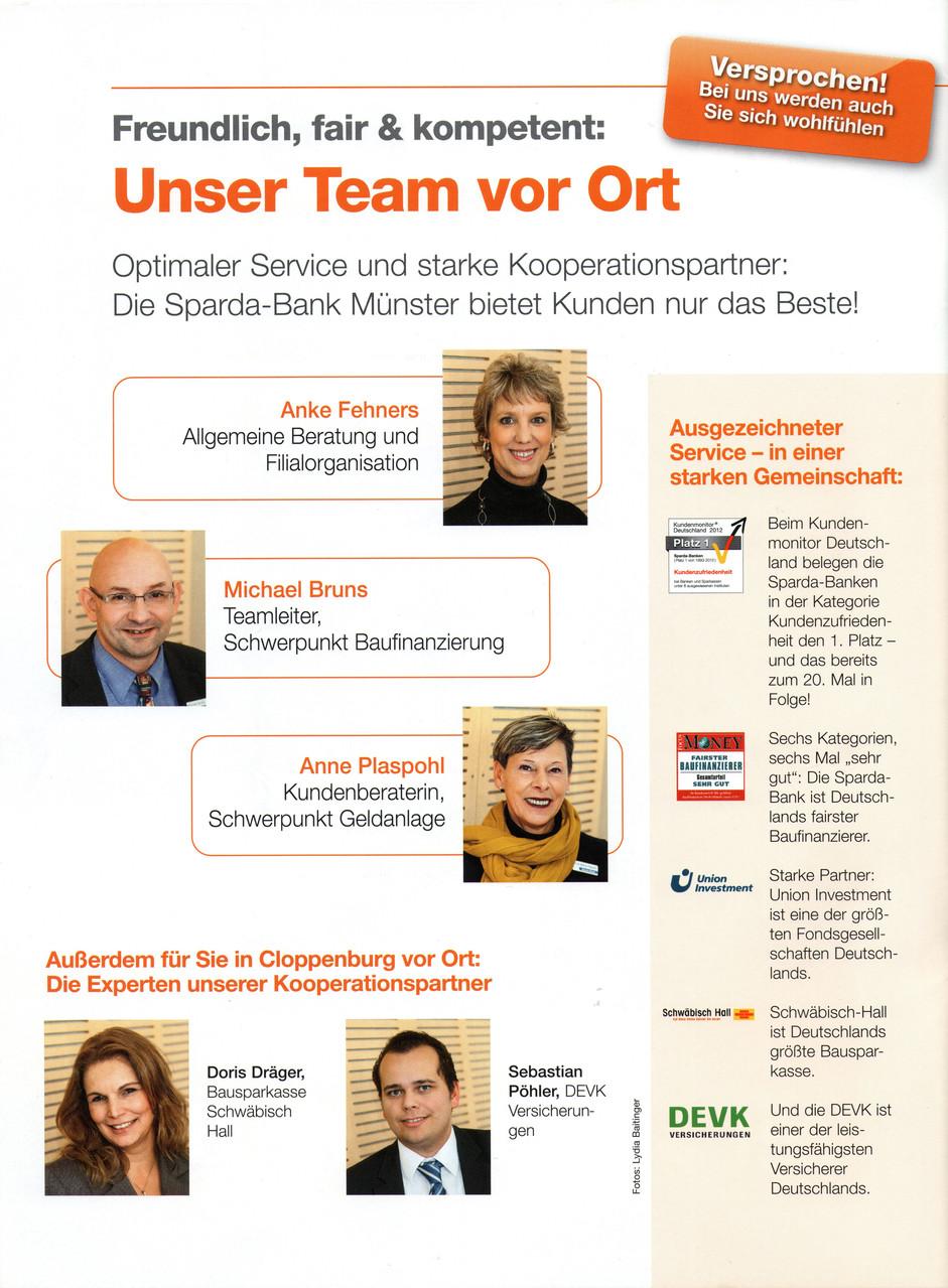 Foto: Lydia Baitinger, Ausgabe: Kundenmagazin Sparda Bank Münster