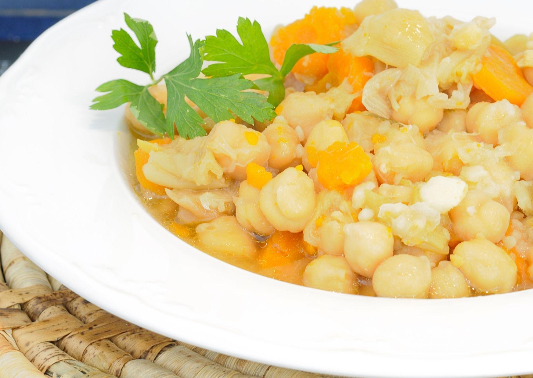 Kichererbsen-Stew mit Zitrone
