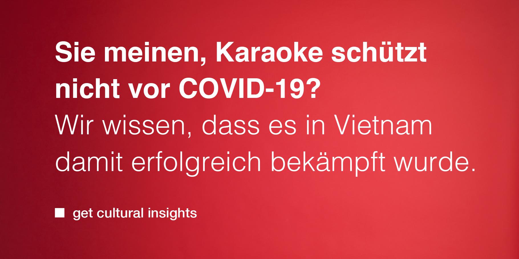 Karaoke schützt vor COVID-19
