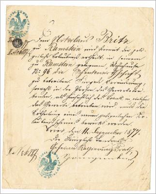 Die Schankerlaubnis von 1877