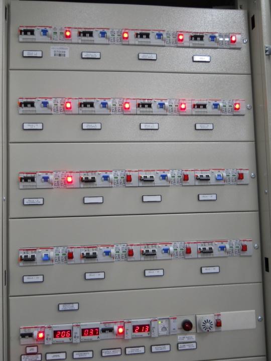 Foto del quadro elettrico postazione di distribuzione