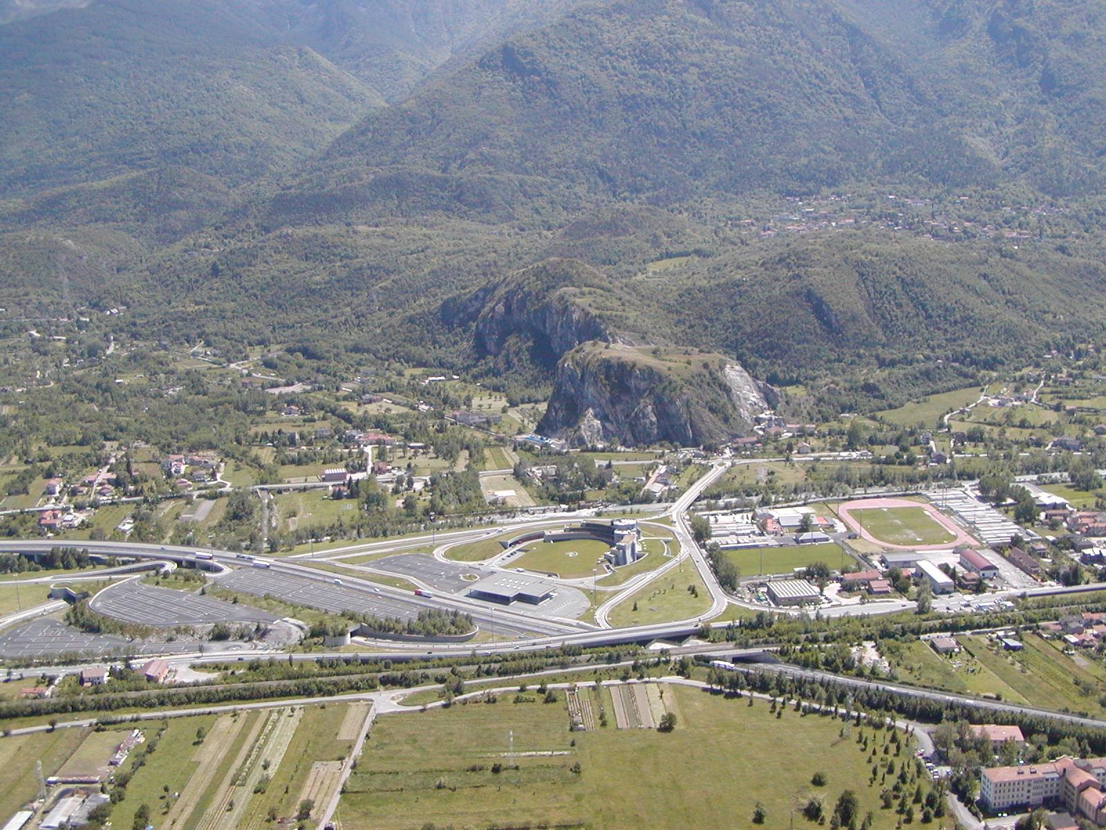 Foto panoramica cima torre: lato Autoporto