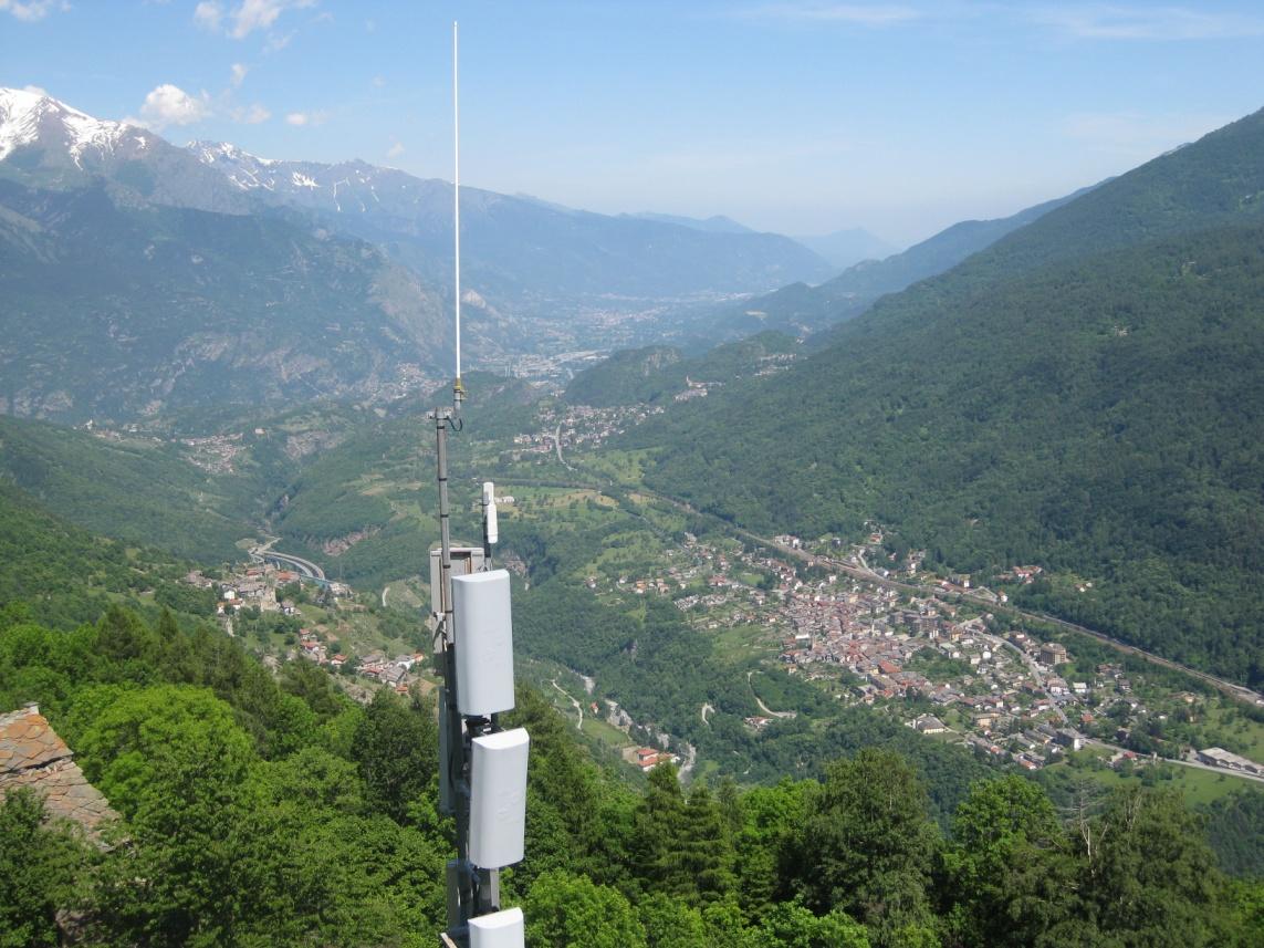 Foto della panoramica cima torre :  Lato Bassa Valle di Susa