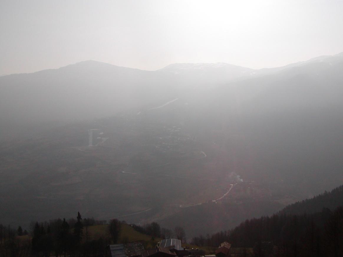 Foto della panoramica cima torre :  Lato paese di Salice d'Oulx