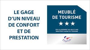 Certification officielle 3 étoiles Meublé de Tourisme