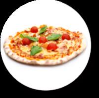 Pizza aus dem Holzfeuer