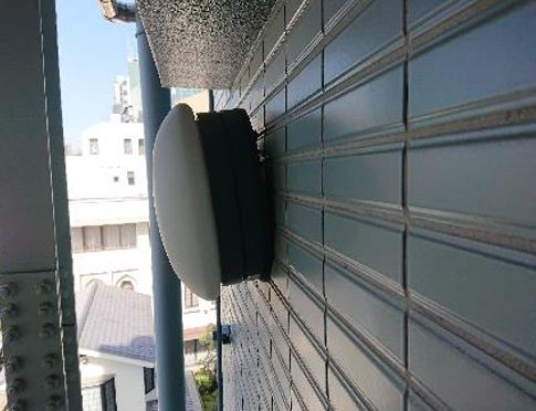 7F外階段照明の修繕工事@菱和パレス高輪TOWER管理組合ブログ