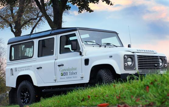 Fahrzeugbeschriftung Defender Gartenkultur Tüber - Gescher