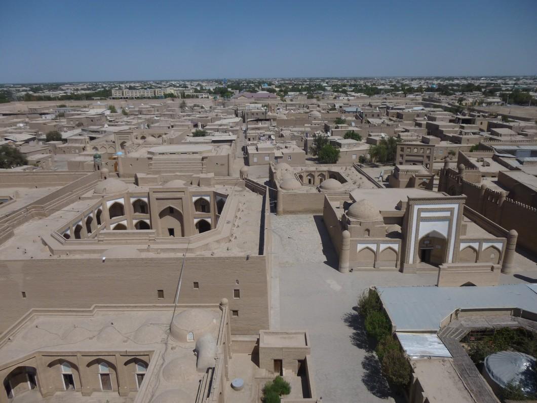 Khiva vu du haut des remparts