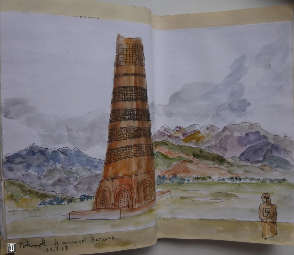la tour de Burana