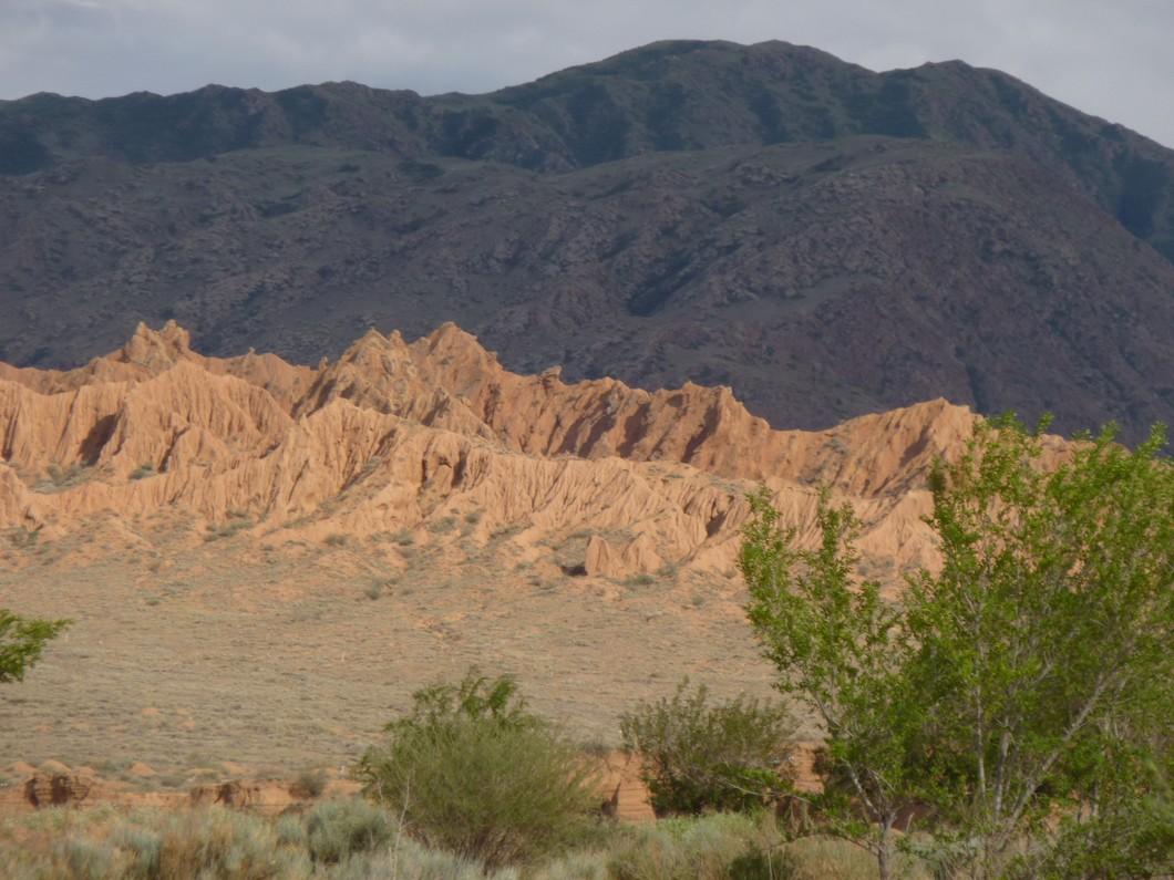 paysage de la région d'Issik kul