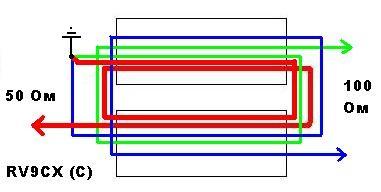 RV9CX, balun, балун, трансформатор, антенна