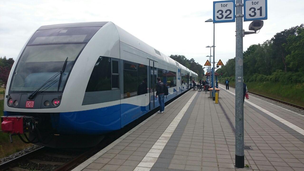 ... und mit der Bahn bis Swinemünde